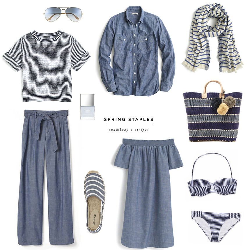 danielle moss spring staples chambray stripes