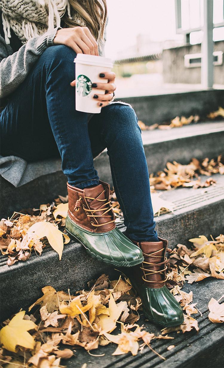 green-duck-boots