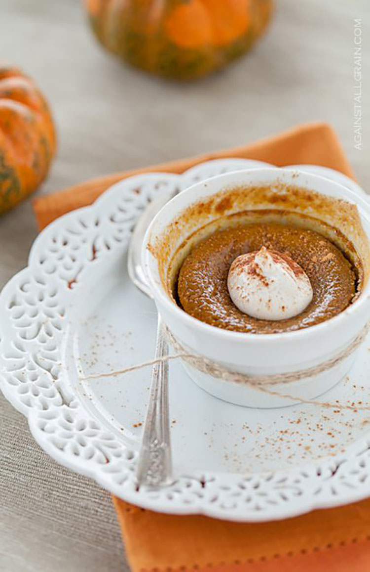 paleo maple pumpkin custard