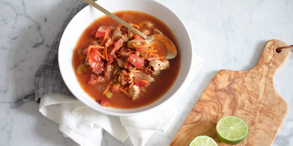 Paleo Chicken and Lime Soup