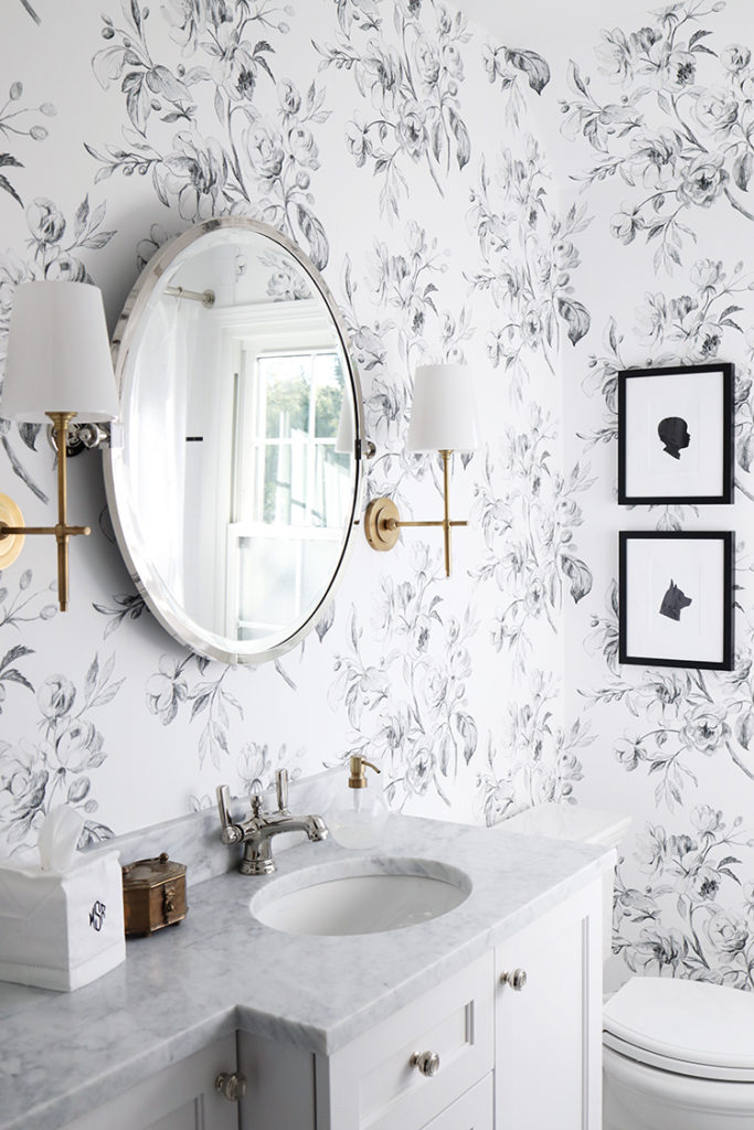A Black And White Floral Bathroom Danielle Moss