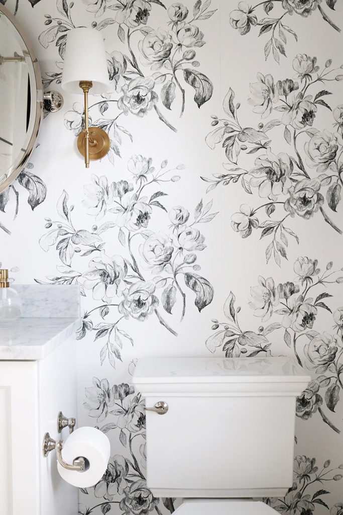A Black And White Floral Bathroom Danielle Moss